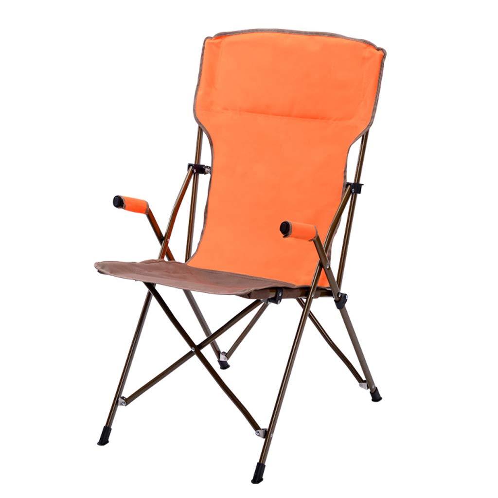 アウトドアウルトラライトポータブル折りたたみチェアキャリーバッグ付き頑丈な220ポンド容量のキャンプ折りたたみチェアビーチチェア、キャンプ、釣り、ハイキング、庭、旅行  Orange B07PTP9F9G