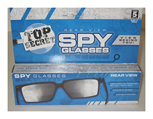 Top Secret Spy Glasses - Magic Trick, Rear-View, Mirror Glasses, Joke/Gag/Prank Popular - Glasses Spy Mirror