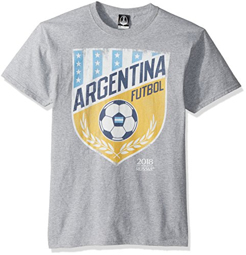 2c6bb41b FIFA Men's Russia 2018 Country Crest Tees, Grey Vamos Argentina, Medium