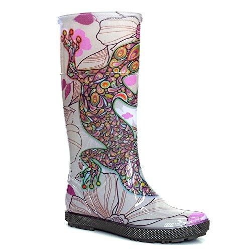 Demar Rubber Boots Rain Boots Hawai Lady Exclusive Multicolour - Salamandra