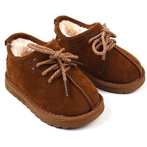 BZLine® Kleinkind Baby warme Martin Sneaker Stiefel Kinder Freizeitschuhe Braun