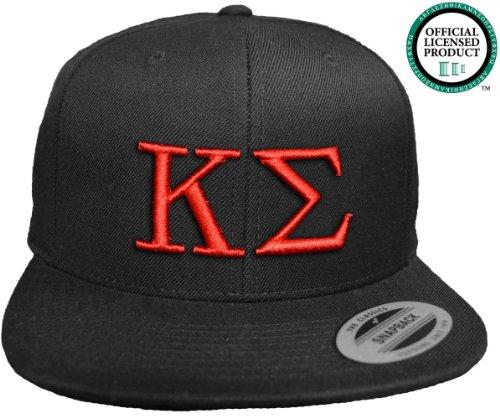 KAPPA SIGMA Flat Brim Snapback Hat Red Letters / Kappa Sig Frat | Fraternity Cap