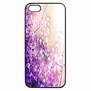 iPhone 5 5S Case - flower lilac purple radiant orchid Patterned Protective Skin Hard Case Cover for Apple iPhone 5 / 5S - Haxlly Designs Case