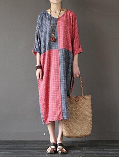 MatchLife - Vestido - vestido - para mujer Rosso
