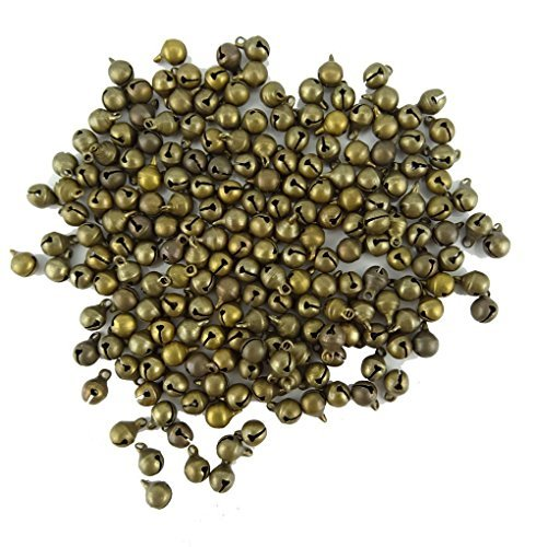 - MANSHU 100pcs Pack 6MM Fashion Bronze Jingle Bell/ Small Bell/ Mini Bell for DIY Bracelet Anklets Necklace Knitting/Jewelry Making Accessories