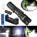 Flashlight Zoomable T6 LED Flashlight Torch Tactical Light Aluminum