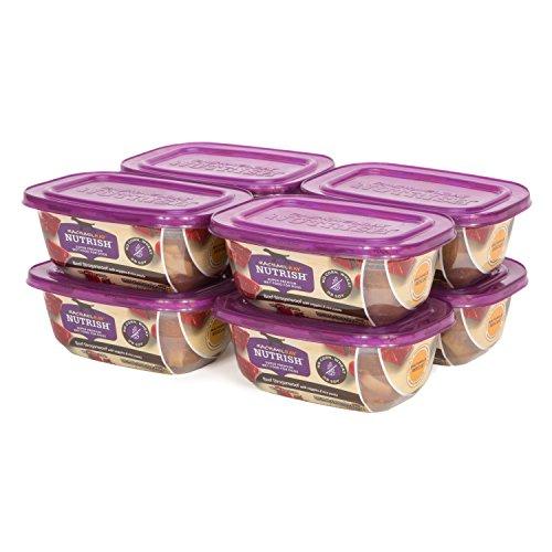 Rachael Ray Nutrish Natural Wet Dog Food, Beef Stroganwoof, Grain Free, 8 oz tub, Pack of 8