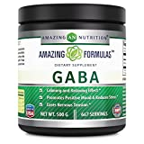 Amazing Formulas GABA Powder 500g - Supports Calming and Relaxing Effect, Promotes Positive Mood & Reduces Stress and eases Nervous Tension