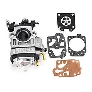 ViaGasaFamido Carburador de Cortacésped con Kits de Reparación para CG430 CG520 BC430 BC520 Desbrozadora, Segura y Duradera