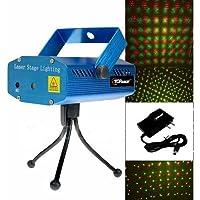 Archy Estacion Escenario Proyector Luz LED Laser Fiesta Show Audioritmico Multipuntos Puntos Bicolor Rojo Verde Tripie Azul