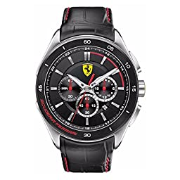 Ferrari Men\'s 0830182 Gran Premio Analog Display Quartz Black Watch