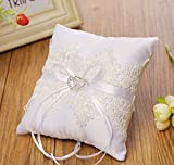 Giga Gud Wedding Ring Pillow 66 inch Bridal Wedding Ceremony Pocket Ring Bearer Pillow Cushion