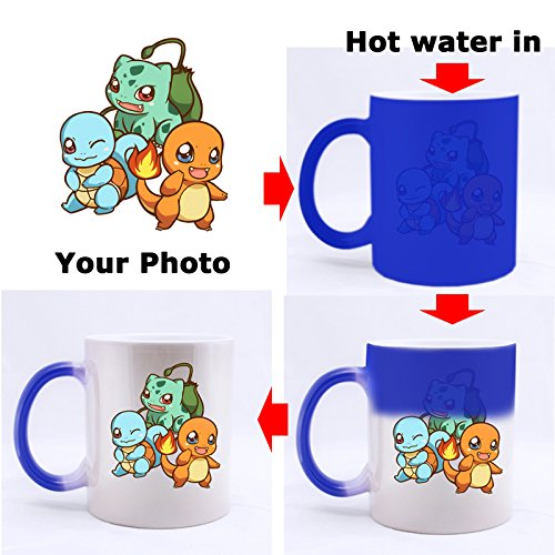 Cool Deadpool Painting Custom Blue Morphing Coffee Mug Tea Cup 11 OZ Office Home Cup (Printed on two sides)
