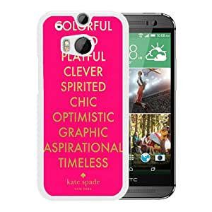 Unique Designed Kate Spade Cover Case For HTC ONE M8 White Phone Case 268