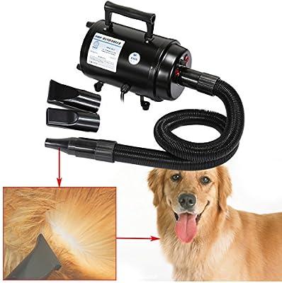 ridgeyard portátil 2800 W secador de pelo de perro Pet Grooming casa dibujar de baño secador de pelo w/calentador para gatos perros alta velocidad ajustable ...