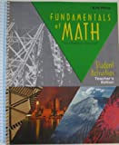 Fundamentals of Math Student Activities Teacher's Edition (gr 7), , 1579243894