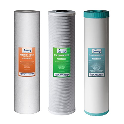 iSpring F3WGB32BM Replacement Filter Pack for 3 Stage 20 Inch Whole House Water Filter, Fits WGB32BM by iSpring