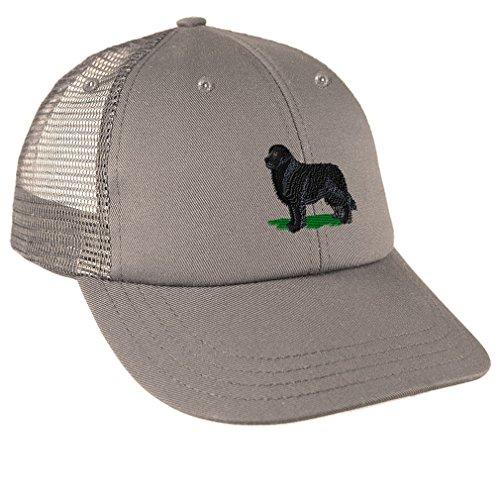 Newfoundland Embroidery Design Low Crown Mesh Golf Snapback Hat - Baseball Newfoundland Cap