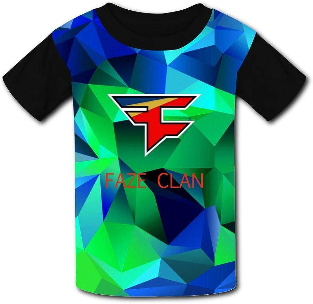 NNaseg Kids Casual Tee FA-Ze C-LAN Logo 3D Print Graphics T-Shirt for Boys Girls