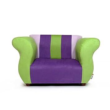 Amazon.com: keet Fancy silla, Silla club, Púrpura/Verde: Baby