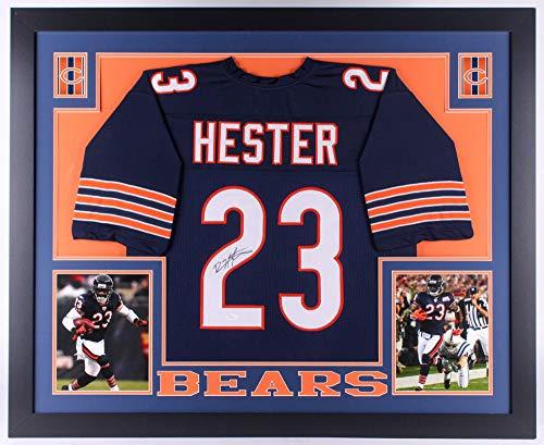 Devin Hester Autographed Signed Bears 35x43 Deluxe Framed Jersey - JSA ()