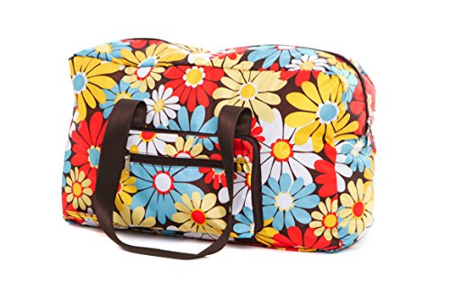 The Very Lovely Bag Co Retro Daisy Slouch Bag Fold Away Pouch Water Resistant