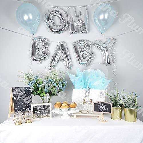 OH Baby Balloon Silver 16