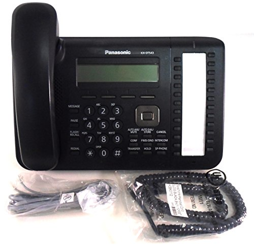 PANASONIC KX-DT543 24 PROGRAMMABLE BUTTONS 3-LINE BACKLIT LCD DISPLAY TELEPHONE – BLACK (3 Line Backlit Lcd)