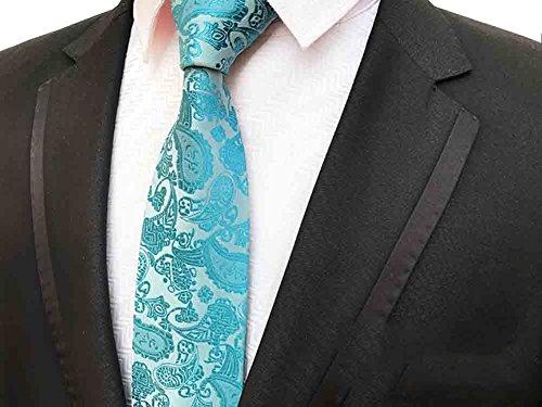 NeckWedding Men's Party Woven Light Paisley Necktie MENDENG Blue With wSxfO