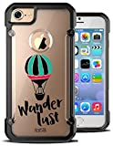 iPhone 7 Case Wanderlust Traveler Travel Hipster Freedom Quote Saying Hybrid Transparent Designer Case Cover For Teens Girls Women. Fits iPhone 7 7S [ KlypsterMax ]