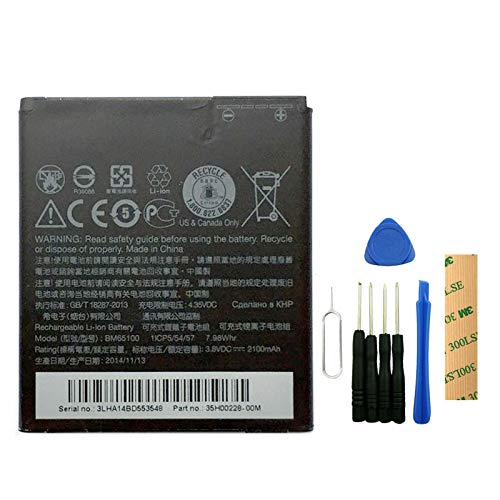 for Bell Mobility HTC Desire 601 Replacement Battery BM65100 Free Adhesive Tool