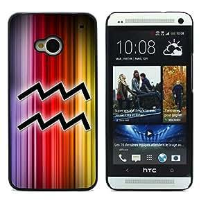 Graphic4You Aquarius Zodiac Horospcope Sign Design Hard Case Cover for HTC One (M7)