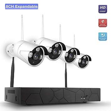 OWSOO Kit de Vigilancia con 8CH 1080P NVR + 4 × 1080P Cámaras ...