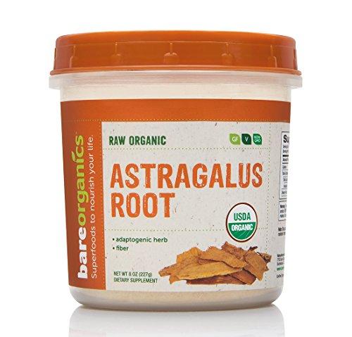 BAREORGANICS Astragalus Root Powder, 8 Ounce