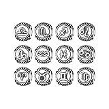 Bamoer Sign of Star Zodiac 925 Sterling Silver Charms Bead For Pandora Bracelet