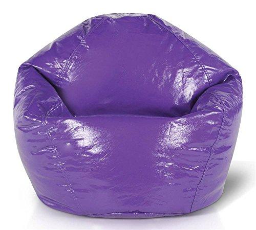 Junior Glossy Vinyl Bean Bag, Purple