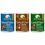 Wellness Stew Wet Canned Dog Food Variety Pack - 3 Flavors (12 Pack)