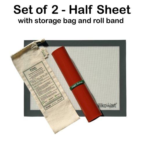 "Simple Ecology Professional Baking Mat Set of 2 - Half Sheet (fits 12""x16"" pan)"