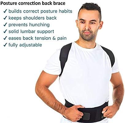 XKRSBS Postura magnética Ajustable Órtesis Cuerpo Corsé Soporte ...