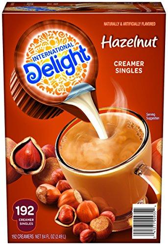 International Delight Hazelnut Liquid Creamer, 192-Count Single-Serve Packages