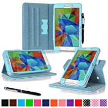 "rooCASE Samsung Galaxy Tab 4 7.0 Case - Dual View Multi-Angle Stand 7-Inch 7"" Tablet Cover - BLUE"