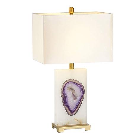 Lámpara de Mesa de Noche Moderna, Pantalla de Tela Elegante ...