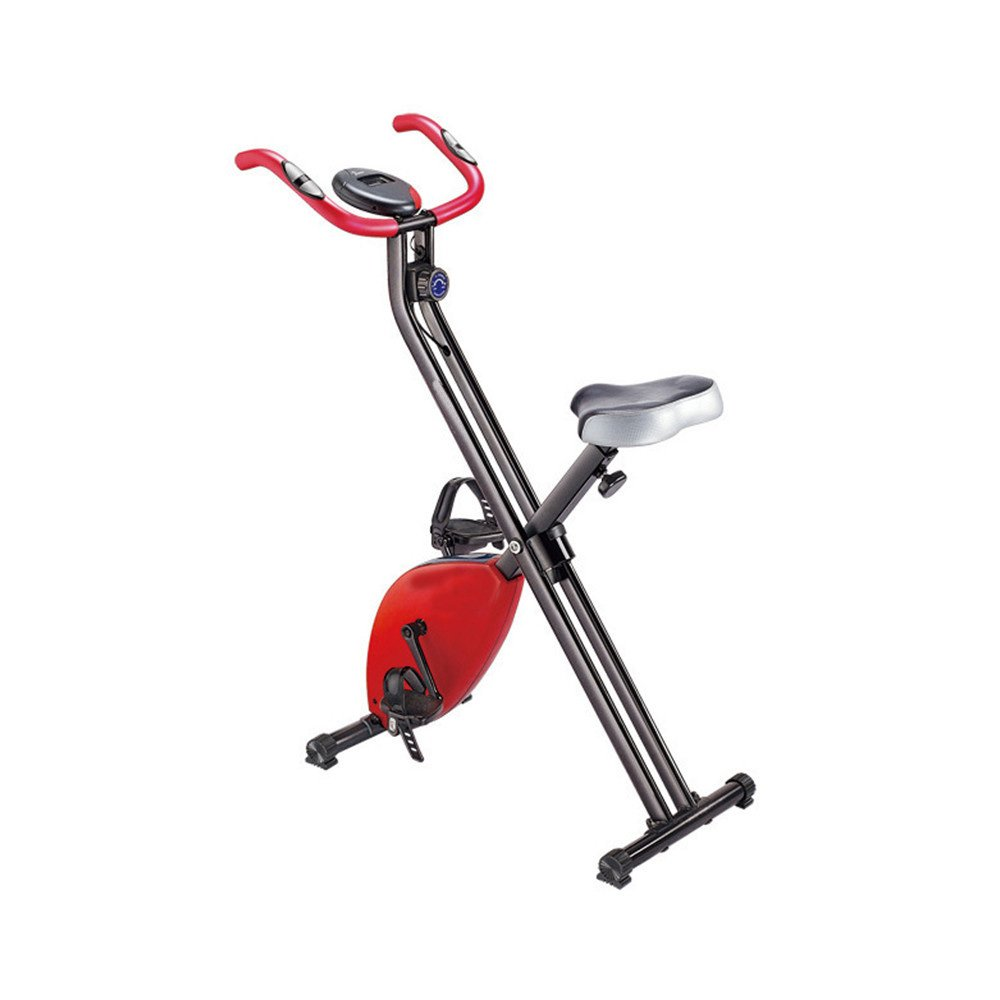 Aszhdfihas Leise Mini Heimtrainer Fitnessgeräte Home Ultra-leise Zwei-Wege-Folding Magnetic Control Spinning Fahrrad Aerobic Übung