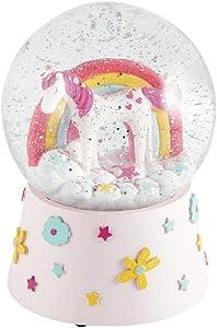 Floss & Rock Musical Unicorn Snow Globe Decor Standard