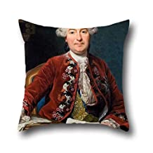 Oil Painting Alexander Roslin - Ulrik Scheffer (1716 - 99) Pillow Cases 18 X 18 Inch / 45 By 45 Cm Gift Or Decor For Bench,her,adults,gril Friend,living Room,teens - 2 Sides