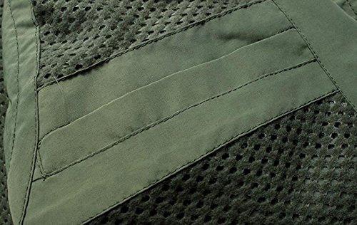 Herren Sportlich Schnell Trocknende Mesh-taktische Weste Multitasche Anglerweste Fotografie,Green-XL