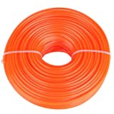 GLOGLOW 3mm String Trimmer Line Nylon Cord Wire Square String Trimmer Line in Spool Grass Trimmer Replacement Mowers Tools(50m)