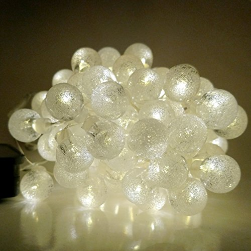 Hometown Evolution, Inc. Solar Powered Air Bubble String Lights - 30 LED Warm White, 8 Modes, Outdoor Waterproof for Gardens, Patios, Yards, Home, Parties and more by Hometown Evolution, Inc.
