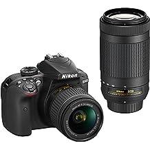 Nikon D3400 Digital SLR Camera & 18-55mm VR & 70-300mm DX AF-P Lenses - (Certified Refurbished)