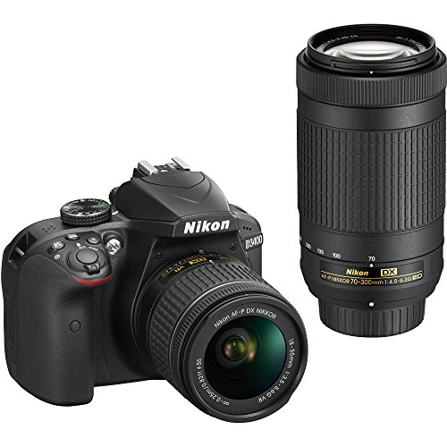 Nikon D3400 Digital SLR Camera & 18-55mm VR & 70-300mm DX AF-P Lenses – (Certified Refurbished)